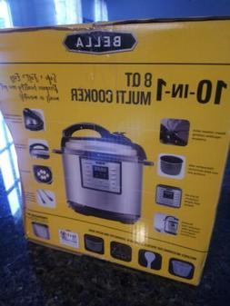 Bella 10 In 1 8 QT Multi Cooker Pressure Cooker