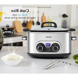 1PC 4-in-1 6 Quart Stainless Multi Cooker Kitchen Appliances