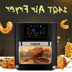 14Qt 1700W Electric Air Fryer Oven Oilless Cooker With LCD D