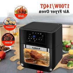 14QT 1700W Electric Air Fryer Oven with Rotisserie OilLess O