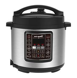 6 Qt All-in-One Multi-Cooker Pot Slow Cooker Pressure Cooker