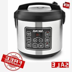 Aroma Professional 16 Cup Digital Rice Cooker Slow Cooker /& Food Steamer