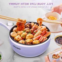 Dezin Electric Hot Pot, 1.5L Non-Stick Sauté Pan with Tempe