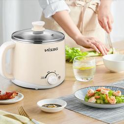 Dezin Electric Hot Pot, 1.6L Slow Cooker with Keep Warm Func