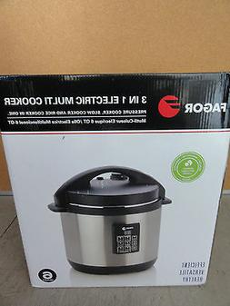Fagor 6-Quart 3-in-1 Electric Multi-Cooker Small Kitchen App