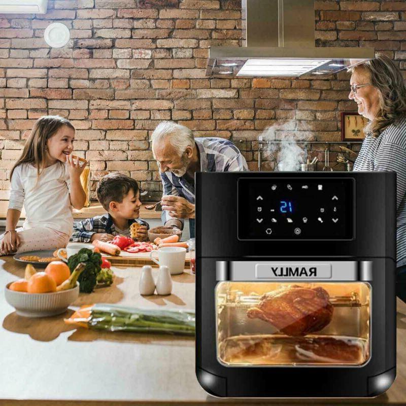 Digital Fryer Oven 1700W 8 1 6 Accessories