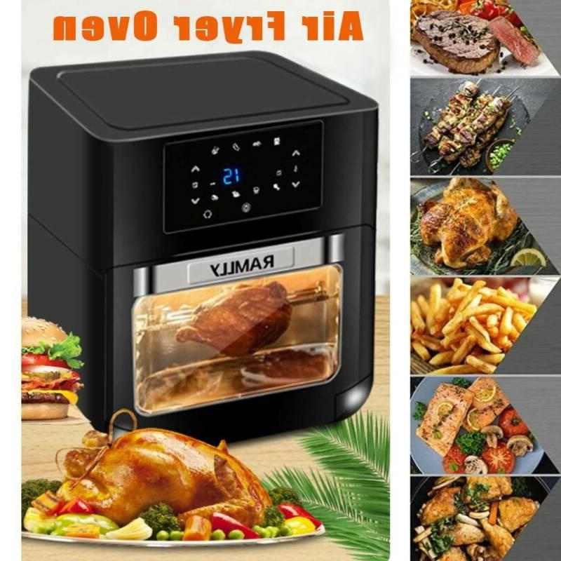 14QT 1700W Air Fryer Electric Air Cooker Roasting OilLess Ov