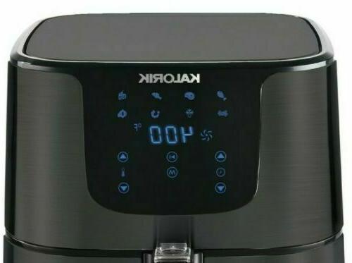Kalorik 5.25 Quart Digital Black Air Fryer