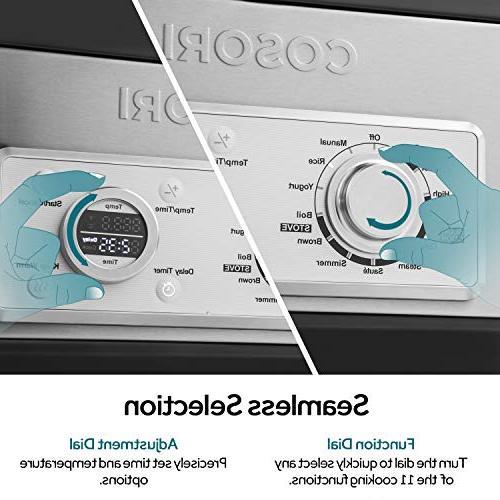 COSORI 6 Programmable Cooker, Rice Brown, Saute, Steamer, Maker, Auto-Warmer, Delay 86°F-400°F, 2-Year Warranty