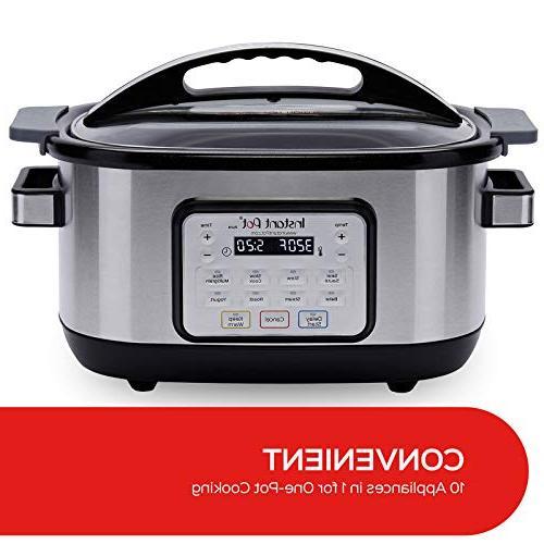 Instant Qt Aura Multi-Use Programmable Multicooker, Silver