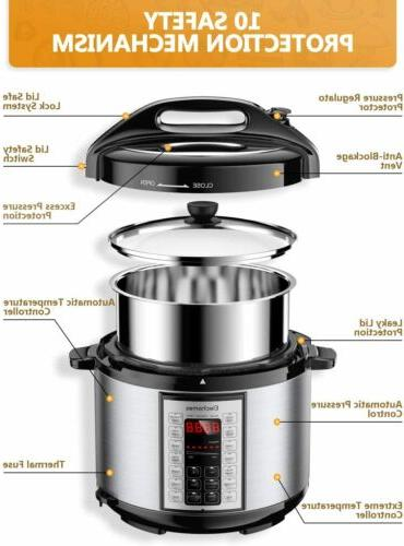 New 9-in-1 Instant Pot Pressure Multi-Cooker US Stock