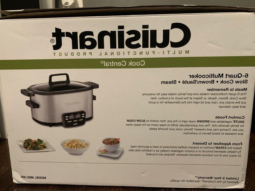 Cuisinart 6QT Multicooker w/ 3 Programmable Functions MSC-60