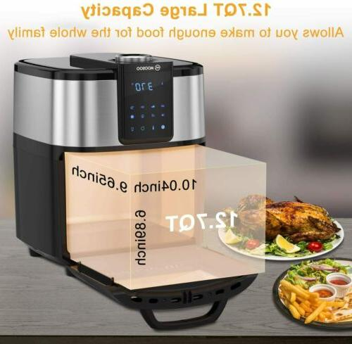12.7QT Large Air Fryer 8-in-1 LED Display