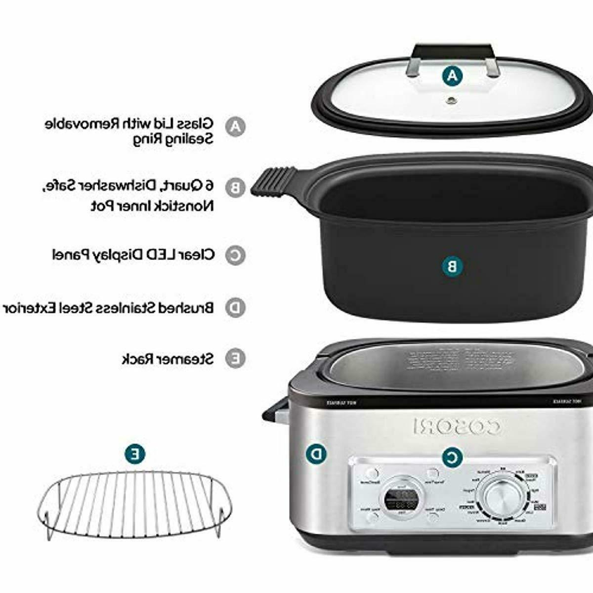 COSORI 6 11-in-1 Programmable Pot, Slow Cooker, Rice Cooker,