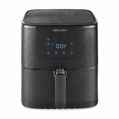 digital air fryer black brushed airfryer multi