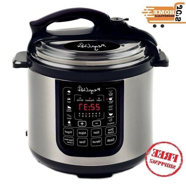 megachef quart digital pressure cooker pre set multi functio
