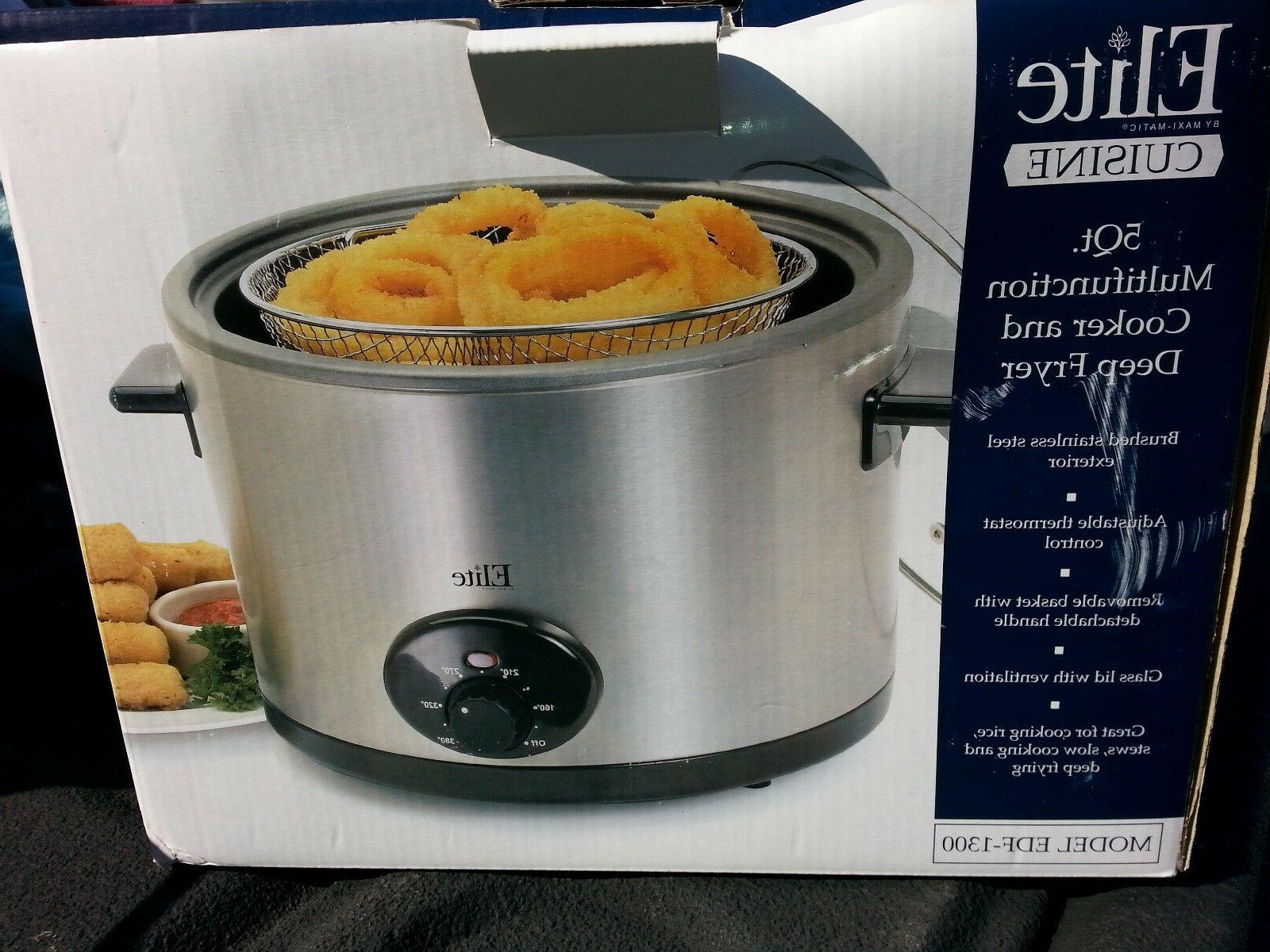 new 5 qt multi cooker and deep