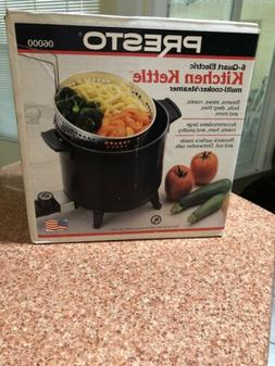 Non-Stick Surface, Kitchen Kettle Multi-Cooker Steamer, Blac