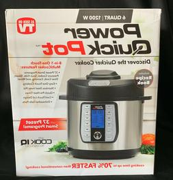 POWER QUICK POT 6 Quart 8-in-1 One Touch Multi Cooker Featur