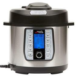 Power Quick Pot - 6-Quart Pressure Multi Cooker - Black/Stai
