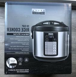 Bella - Pro Series 20-Cup Rice Cooker - Stainless Steel