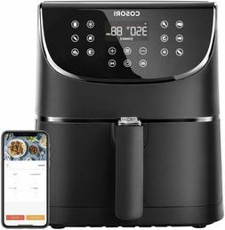 COSORI Smart WiFi Air Fryer XL 5.8 Qt 1700W 100 Recipes Work