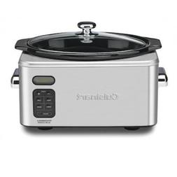 Stainless Steel Slow Cooker 6.5 Quart Oval Ceramic Cooking P