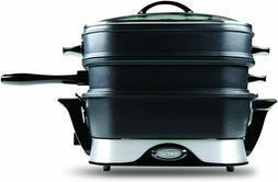 Steamer Skillet by VitaChef Electric Multi Cooker/Steamer