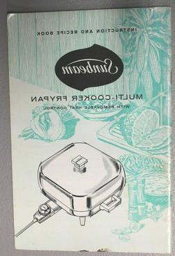 Sunbeam Multi-Cooker Fry Pan Instruction and Recipe Booklet