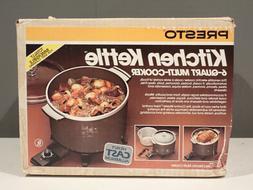 Vintage Presto 6 Quart Kitchen Kettle Crockery Multi Purpose